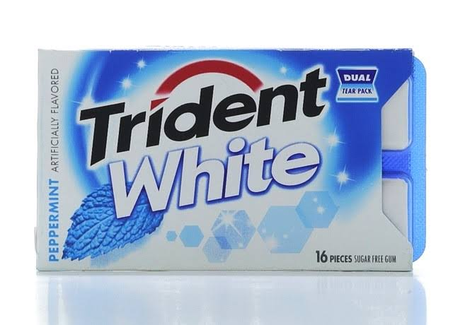 Trident White Gum - 16 Pieces