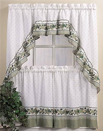 CHF Cottage Ivy 24 inch Curtain Tier/ Swag Set
