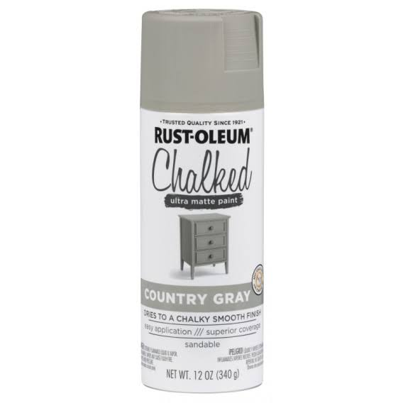 Rustoleum Chalked Paint Spray - Country Gray, 12oz