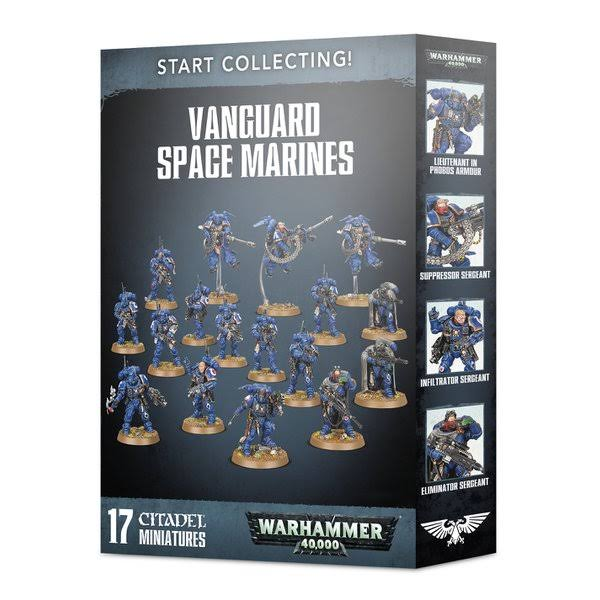 Warhammer 40K Start Collecting Vanguard Space Marines Miniature