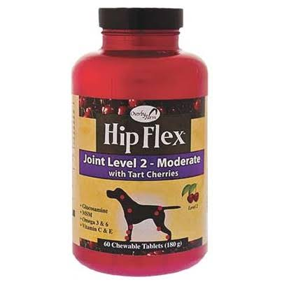 NaturVet Hip Flex Dogs Joint Level 2 Moderate Chewable Tablets - 60ct