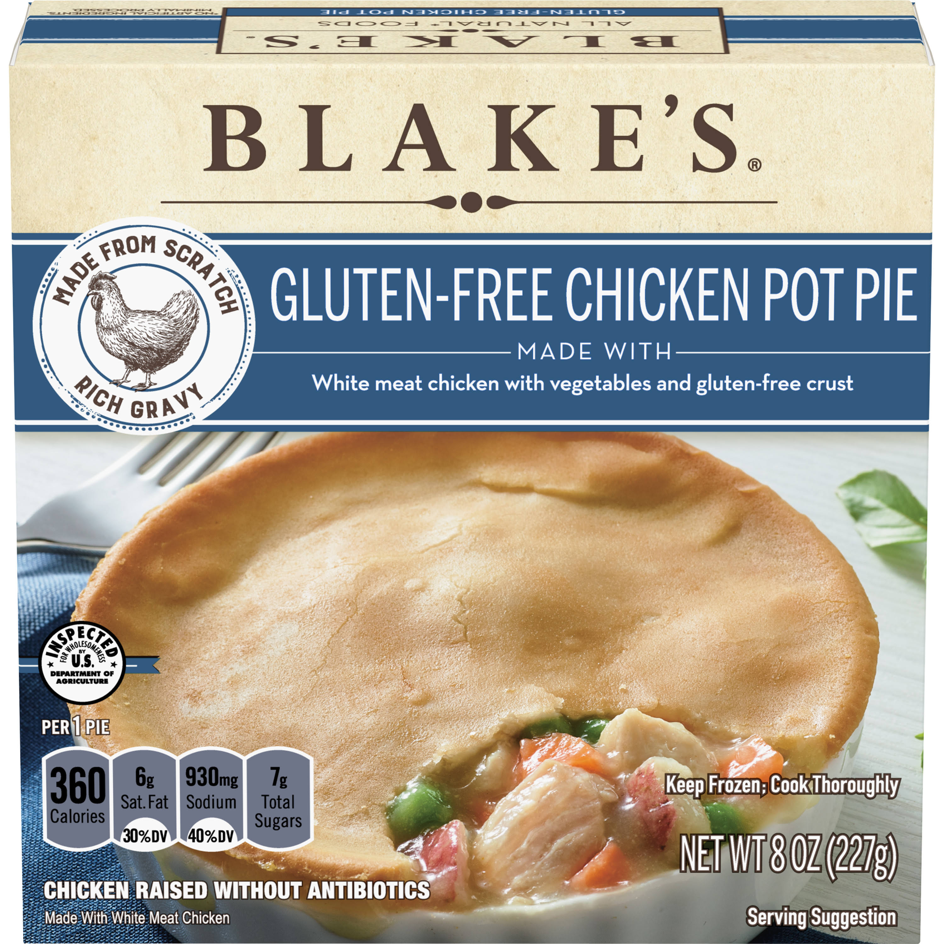 Blake's Gluten-Free Chicken Pot Pie - 8oz
