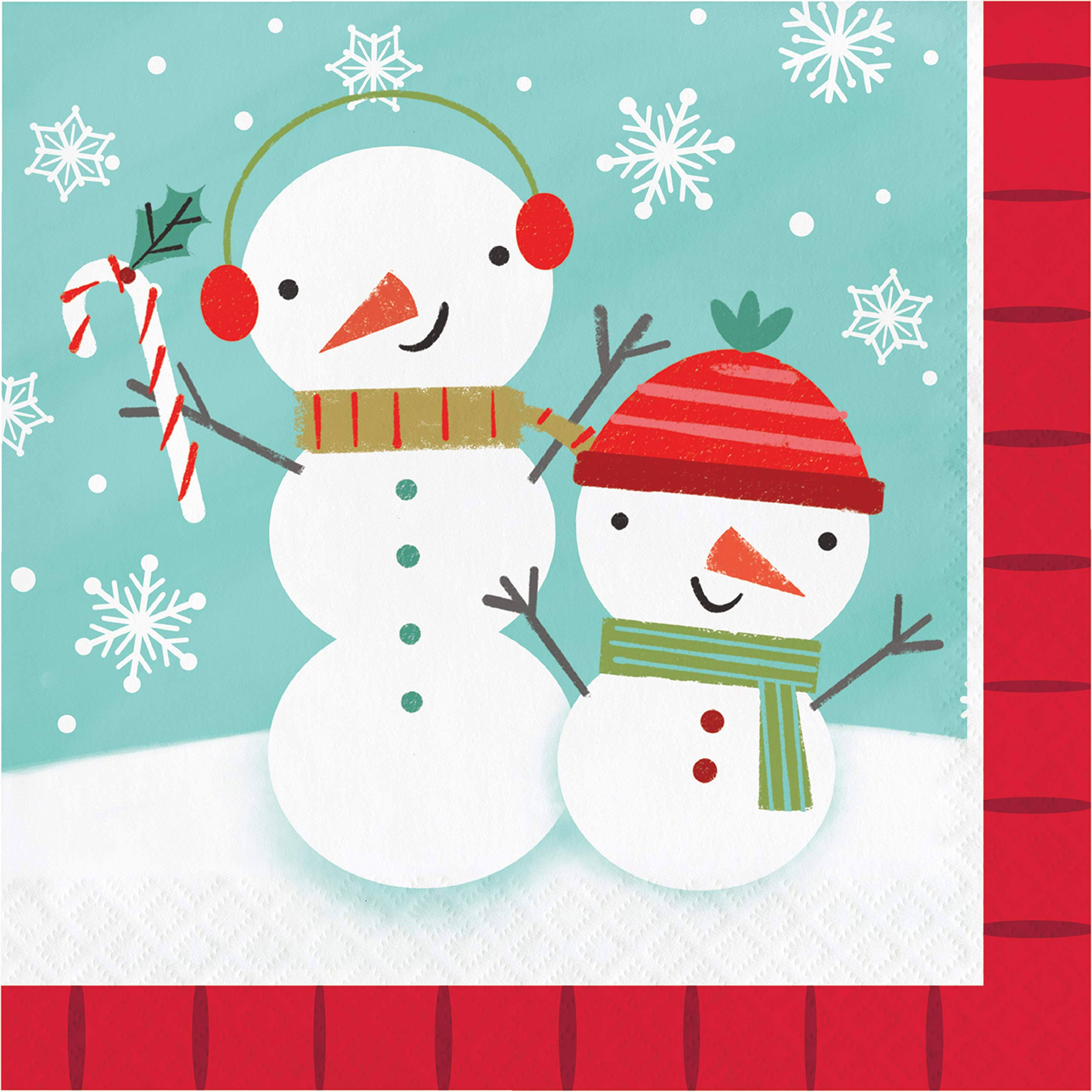 Winter Snowman Napkins