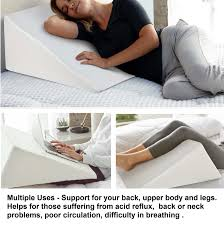 Jobri Spine Reliever Bed Wedge by Back Support Pillow For Bed Australia Pillow Ideas