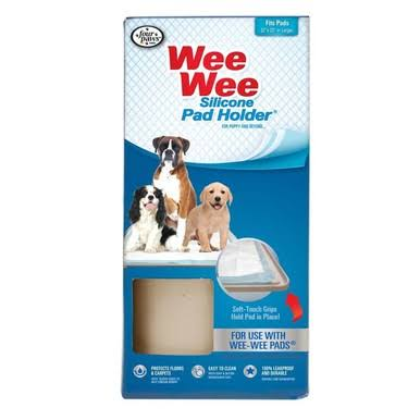 Four Paws FRP343 Wee Wee Silicone Dog Housebreaking Pad Holder