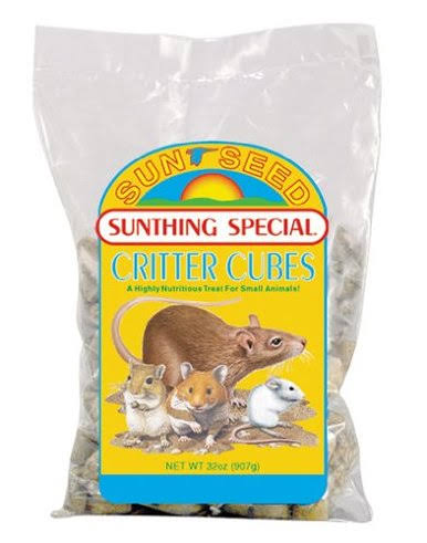 Sunseed Company Critter Cubes Small Animal Food - 2lbs