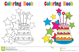 Cake Decorating Books Free by Coloring Book Birthday Cake Stock Vector Image 53458433