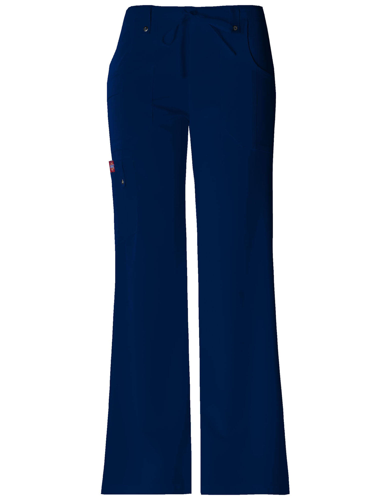 Dickies Womens Xtreme Stretch Fit Drawstring Flare Leg Pants - Navy, X-Large