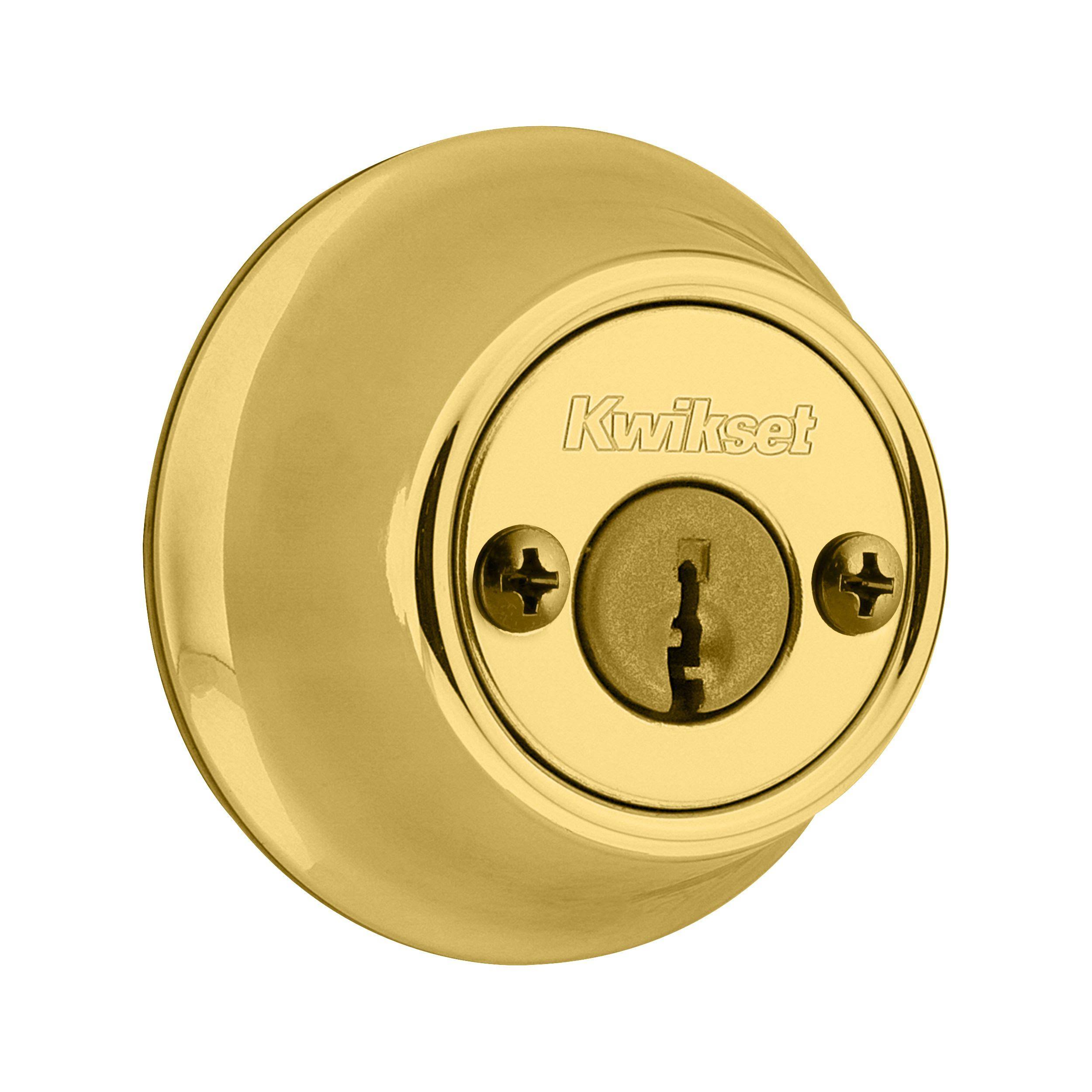 Kwikset 665 Double Cylinder Deadbolt - Polished Brass