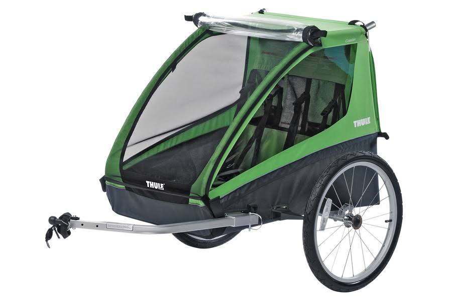 Thule Active with Kids Cadence Double Child Bicycle Trailer - Green