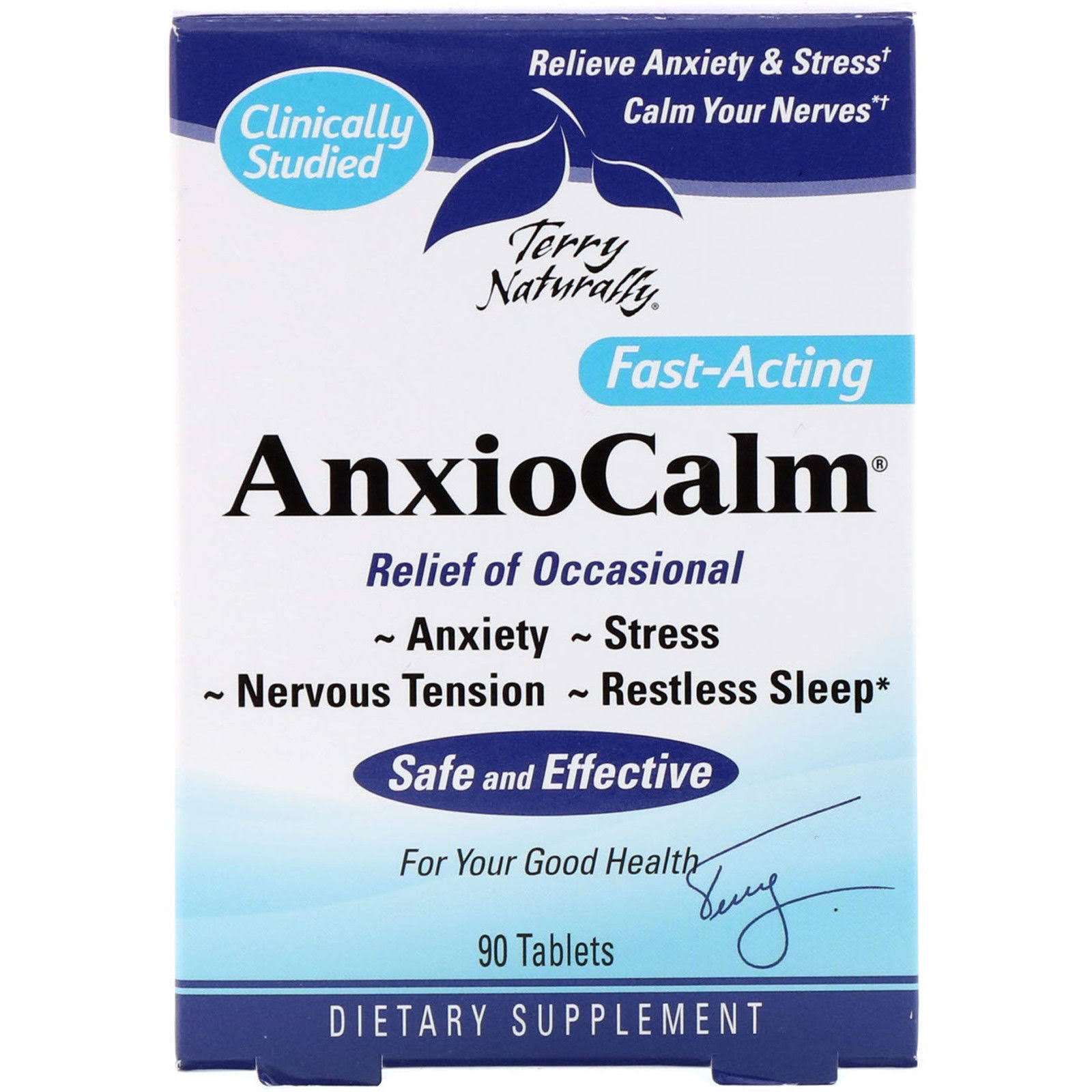Terry Naturally AnxioCalm - 90 Tablets