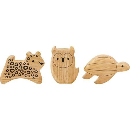 Green Tones Endangered Animal Shaker Set - 3ct