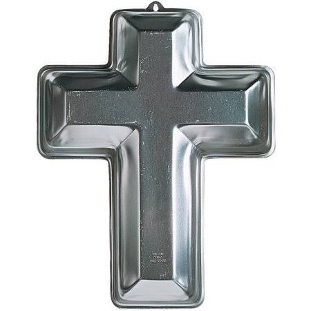 "Wilton Novelty Shaped Cake Pan - Cross, 14.5"" x 1"""