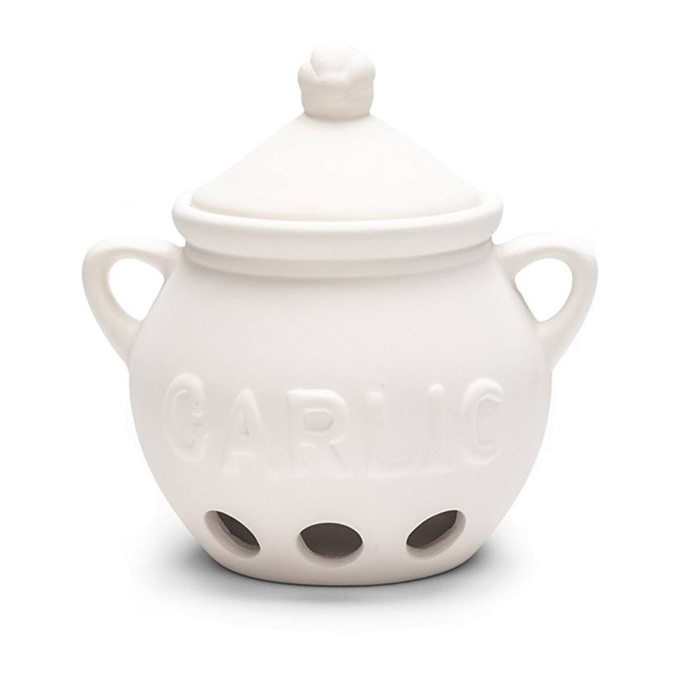 Fox Run Garlic Keeper - White
