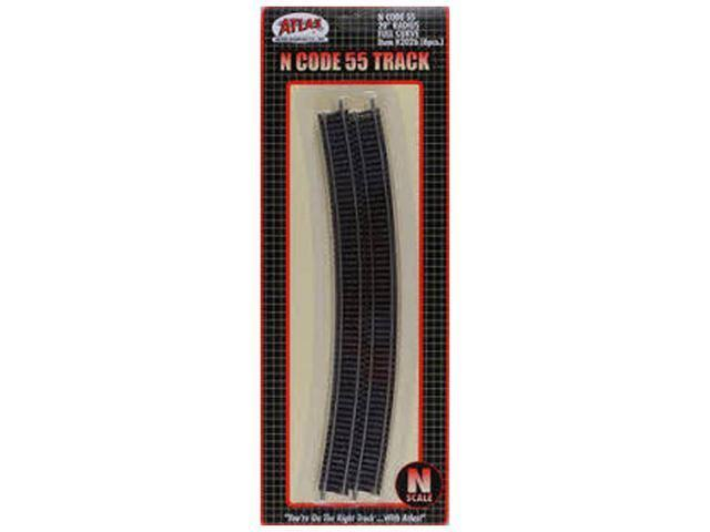 Atlas N Code 55 Radius Curve Track Model Kit - 20""