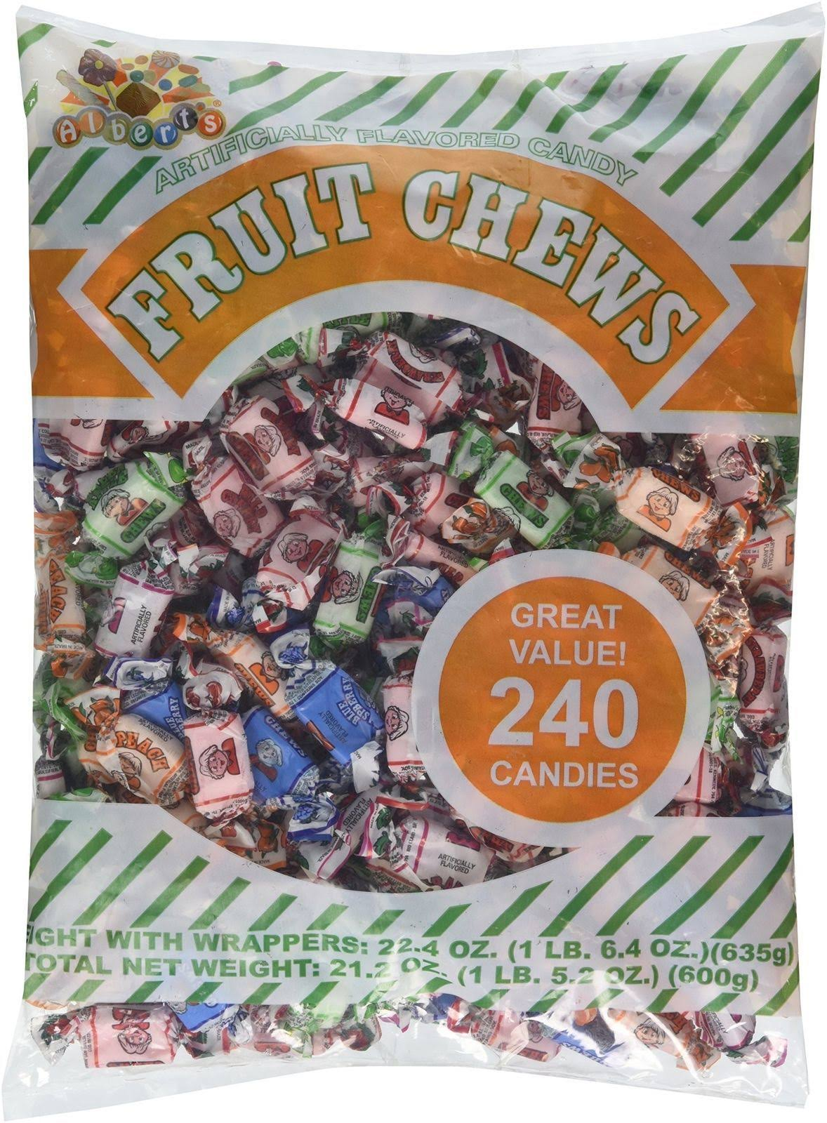 Albert's Chews Fruit Assorted Bag - 240pcs