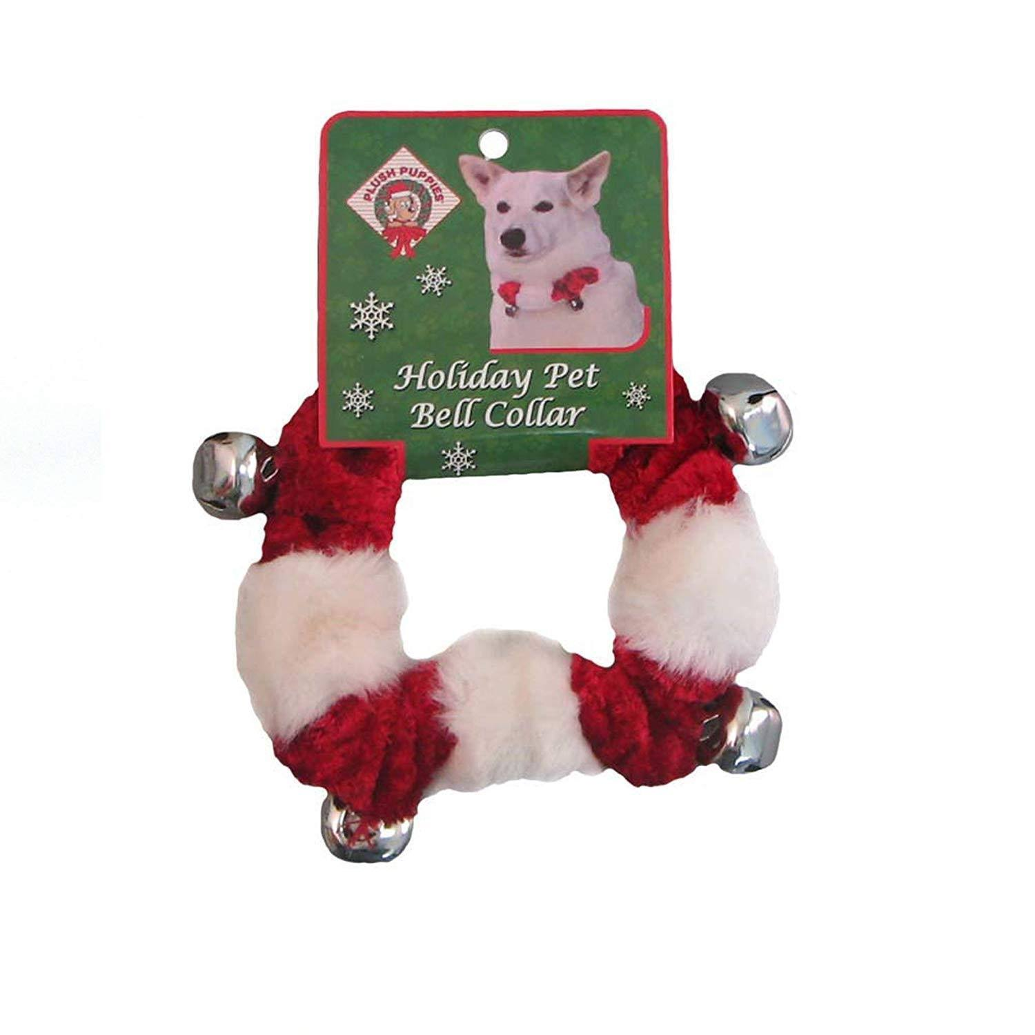 Outward Hound Xmas Holiday Dog Collar - with Bell, Small