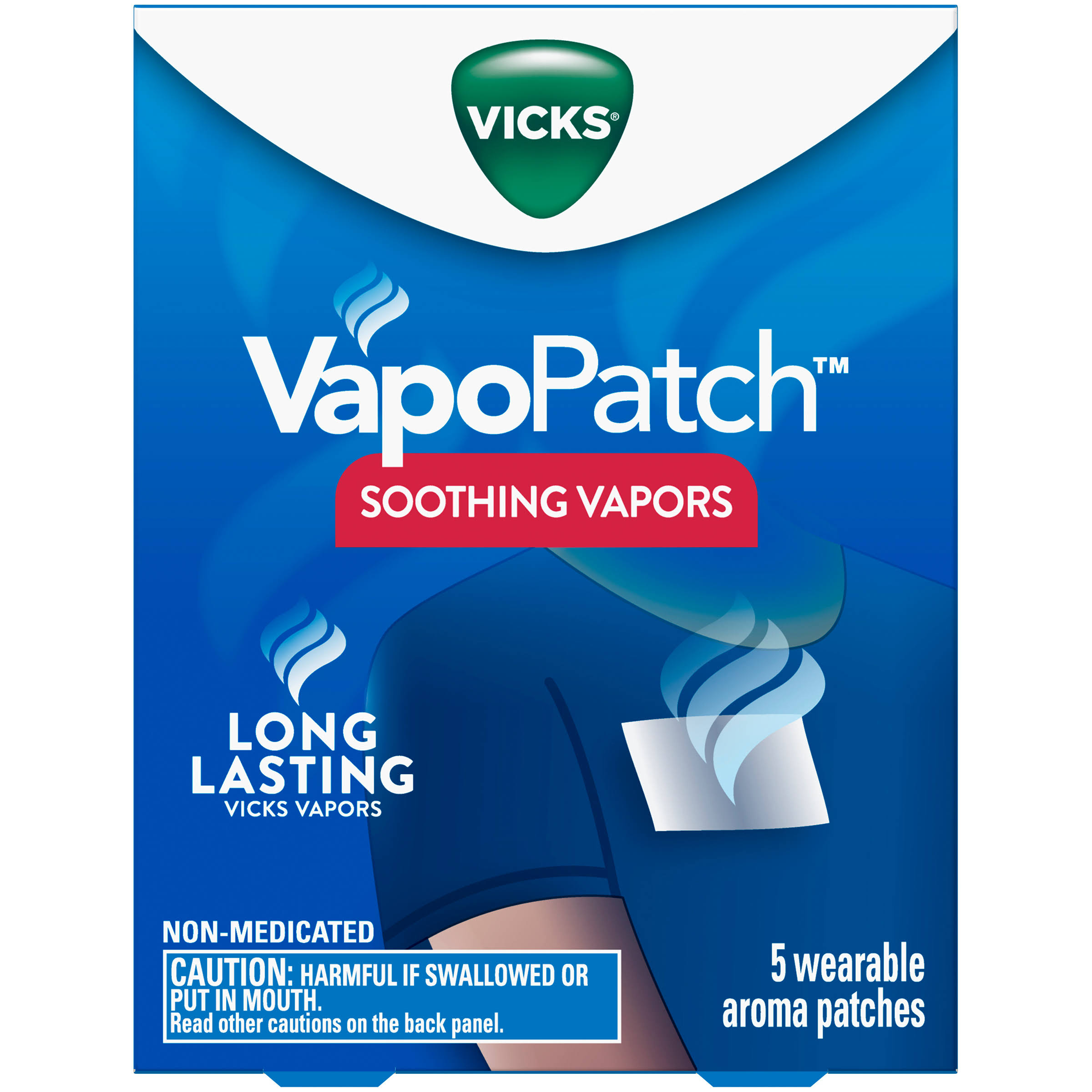 Vicks VapoPatch with Long Lasting Soothing Vicks Vapors - 5ct