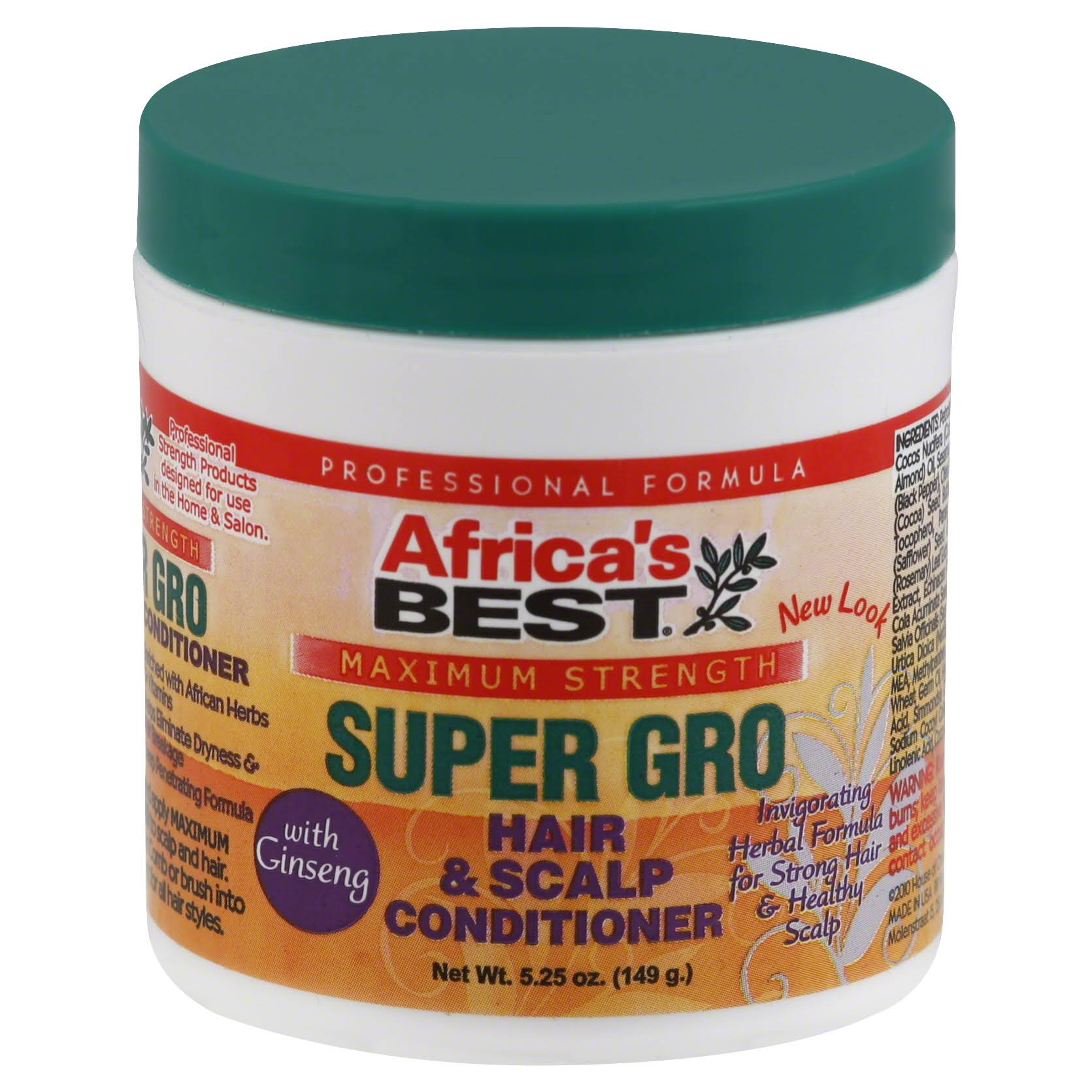 Africa's Best Super Gro Hair & Scalp Conditioner - 5.25oz