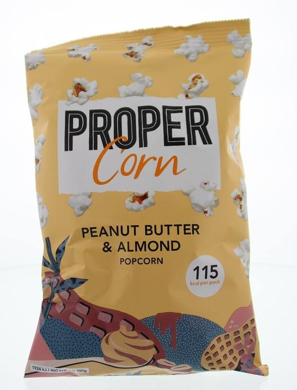 Propercorn Popcorn - Smooth Peanut and Almond, 25g