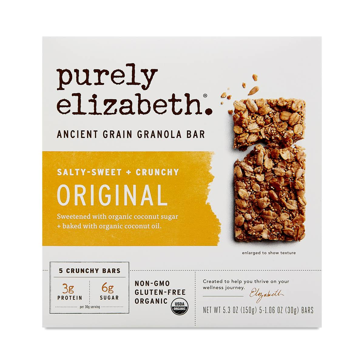 Purely Elizabeth Granola Bar, Ancient Grain, Original - 5 pack, 1.06 oz bars