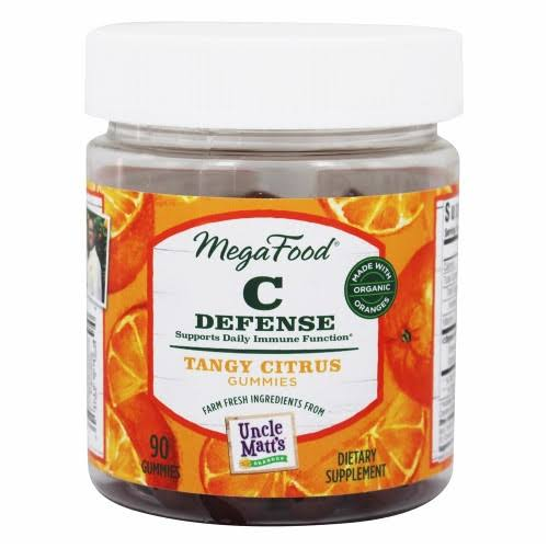 Megafood C Defense Gummies Supports Daily Immune Function Supplements - Tangy Citrus, 90ct