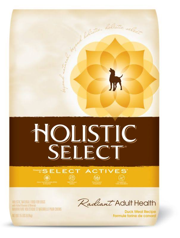 Holistic Select Natural Dry Dog Food - Duck, 15lb