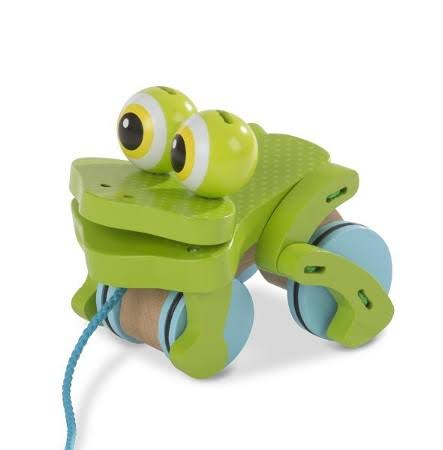 Melissa & Doug First Play - Frolicking Frog Pull Toy