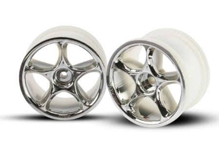 Traxxas 2472 Rear Tracer Wheels - Chrome