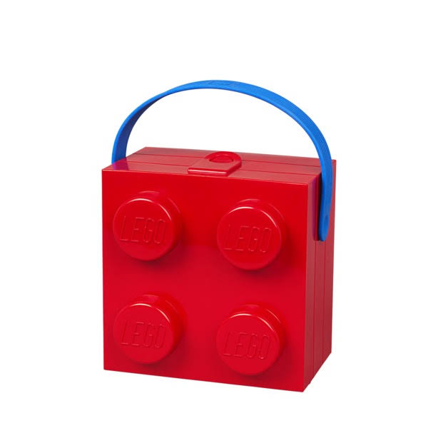 Lego Lunch Box with Handle, Bright Red