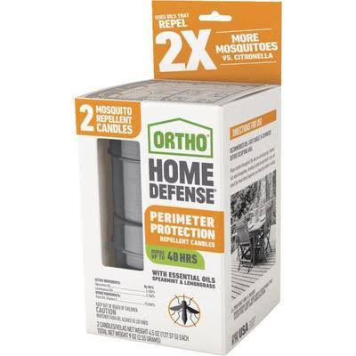 Ortho Home Defense Mosquito Perimeter Protection Candles (Set of 2, 4.5 oz each)