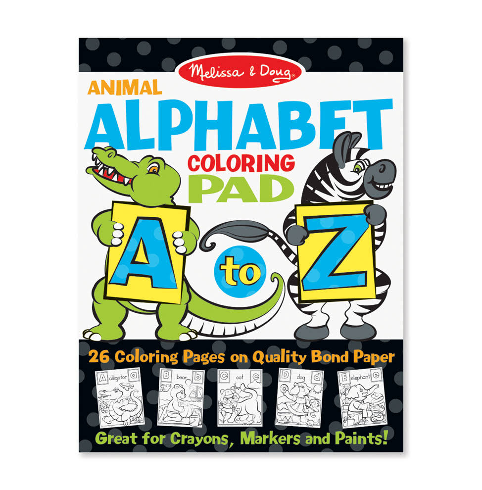 Melissa & Doug - Animal Alphabet Coloring Pad