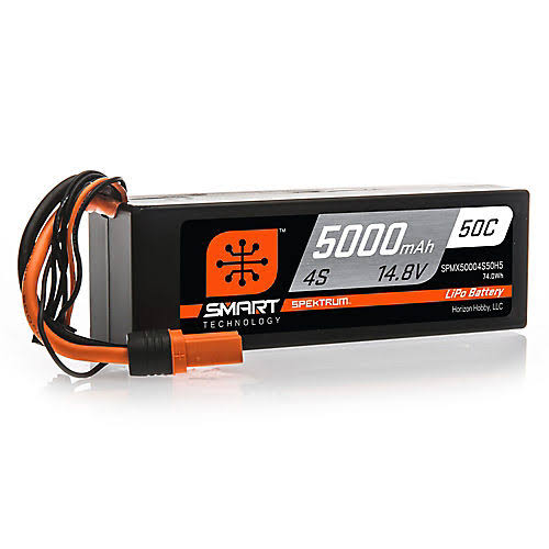 Spektrum Smart Lipo Battery - 5000mAh, 4S, 14.8V, 50C