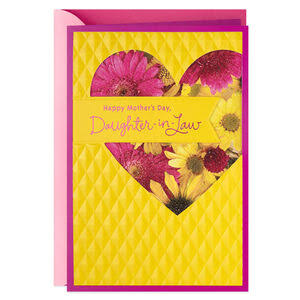 Floral Heart Mother's Day Card for Daughter-In-Law