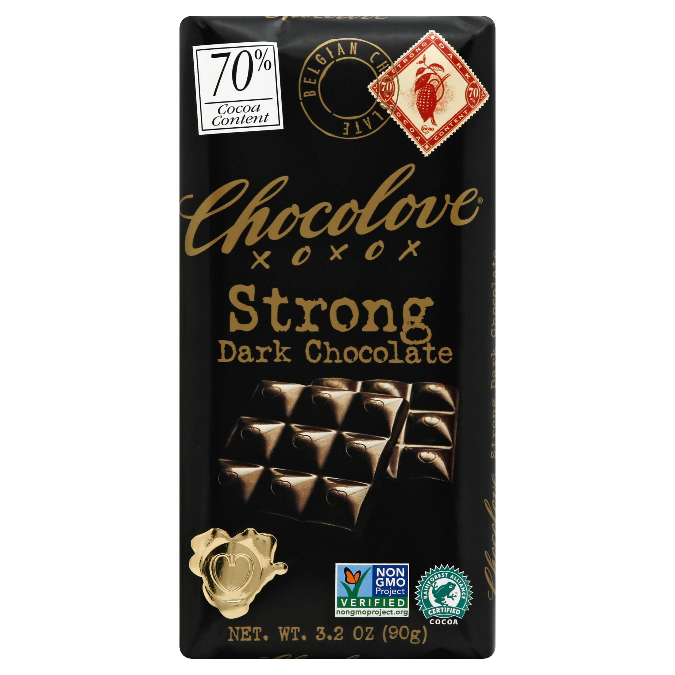 Chocolove Premium Chocolate Bars - Strong Dark Chocolate