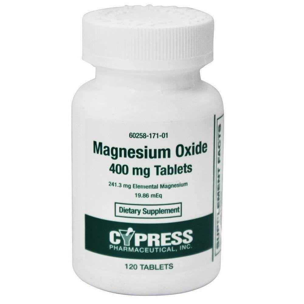 Cypress Pharma Magnesium Oxide Supplement - 120 Tablets