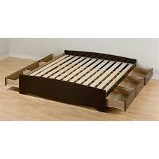 prepac furniture mate u0027s espresso king platform bed with storage
