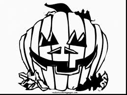 Scary Halloween Coloring Pages Online by Magnificent Halloween Pumpkin Coloring Pages Alphabrainsz Net