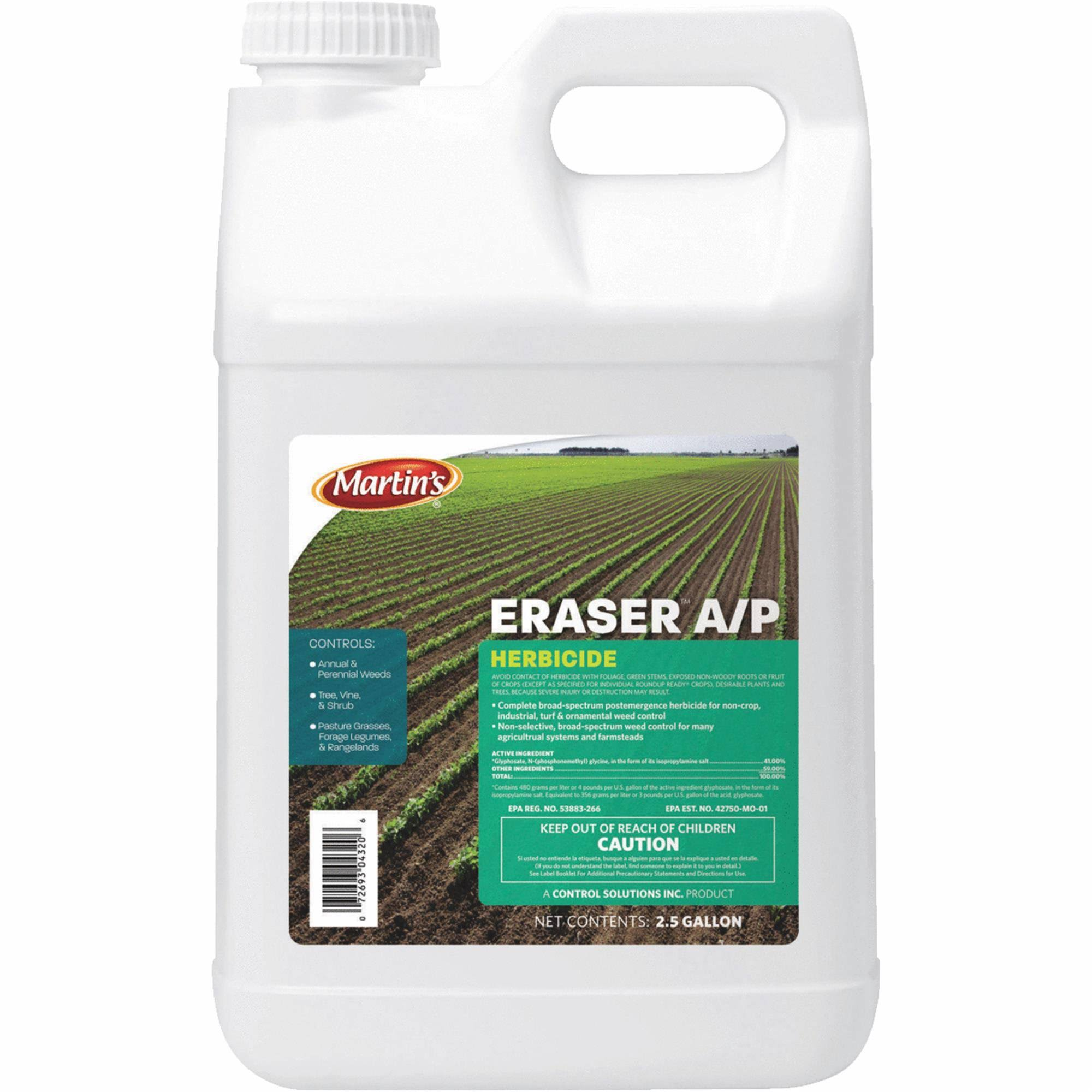 Control Solutions Eraser AP 41 Percent Concentrate Weed and Grass Killer - 2.5 Gallon