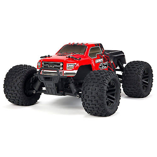 Arrma 1/10 Granite Mega 550 Brushed 4WD Monster Truck RTR, Red/Black