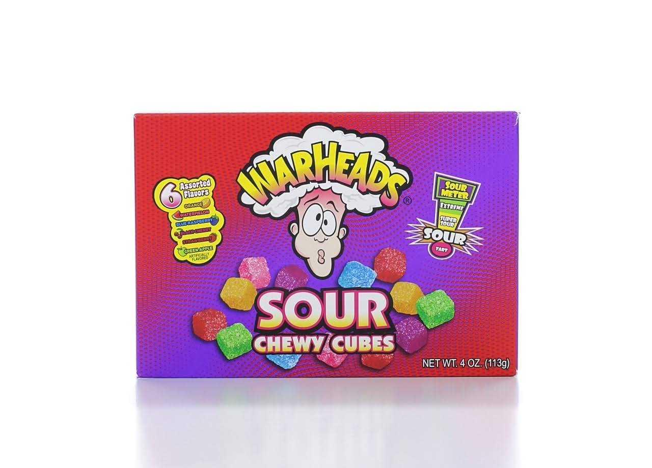 Warheads Chewy Cubes - 6 Assorted Flavors, 113g