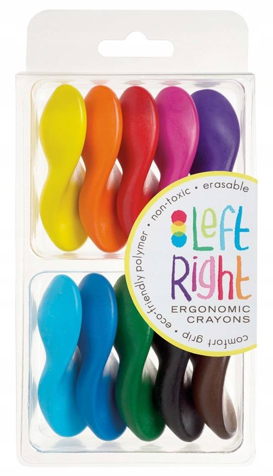 Left Right Crayons - Set of 10