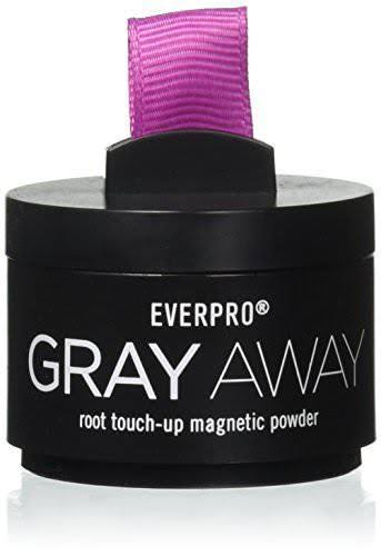 Everpro Gray Away Powder Root Touch Up Magnetic Powder - Black/Dark Brown, 0.13oz