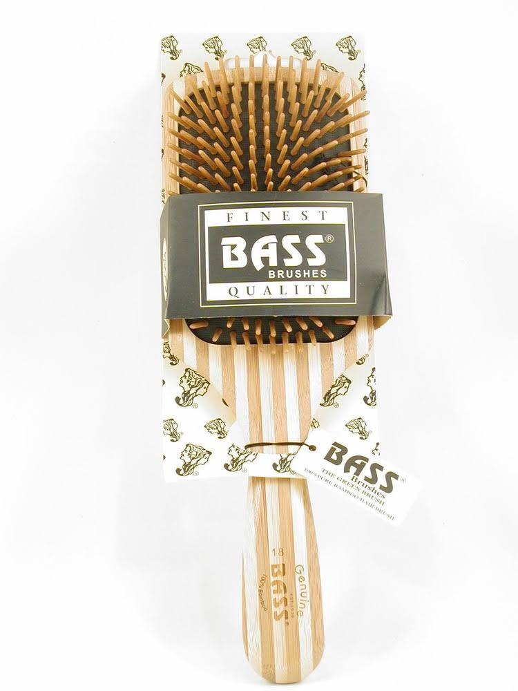 Bass Brushes Brush - Large Oval Cushion Wild Boar / Nylon Bristle Wood Handle - 1 Brush