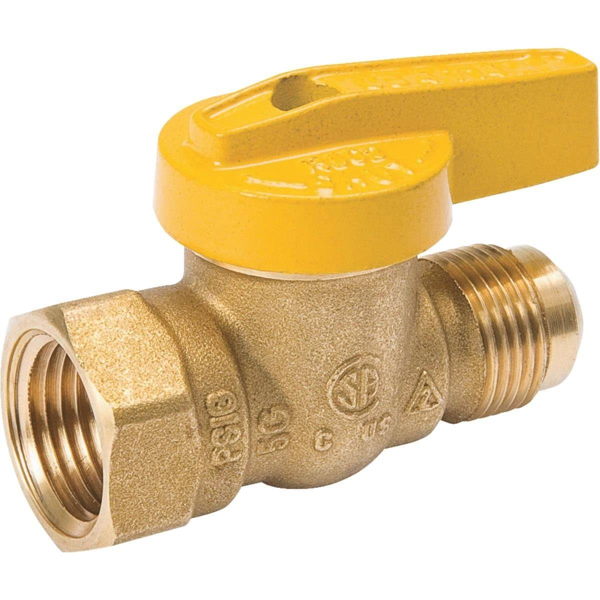 "Mueller Industries Female Flare Gas Ball Valve - 1/2""x1/2"""