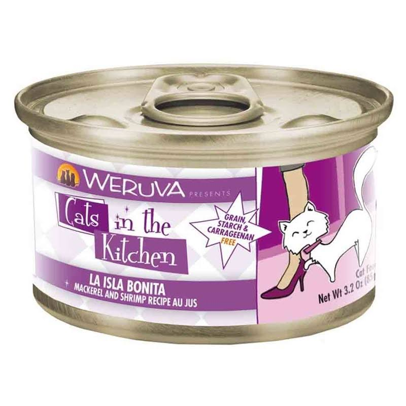 Weruva Cats in the Kitchen La Isla Bonita Cat Food - Mackerel and Shrimp, 3oz