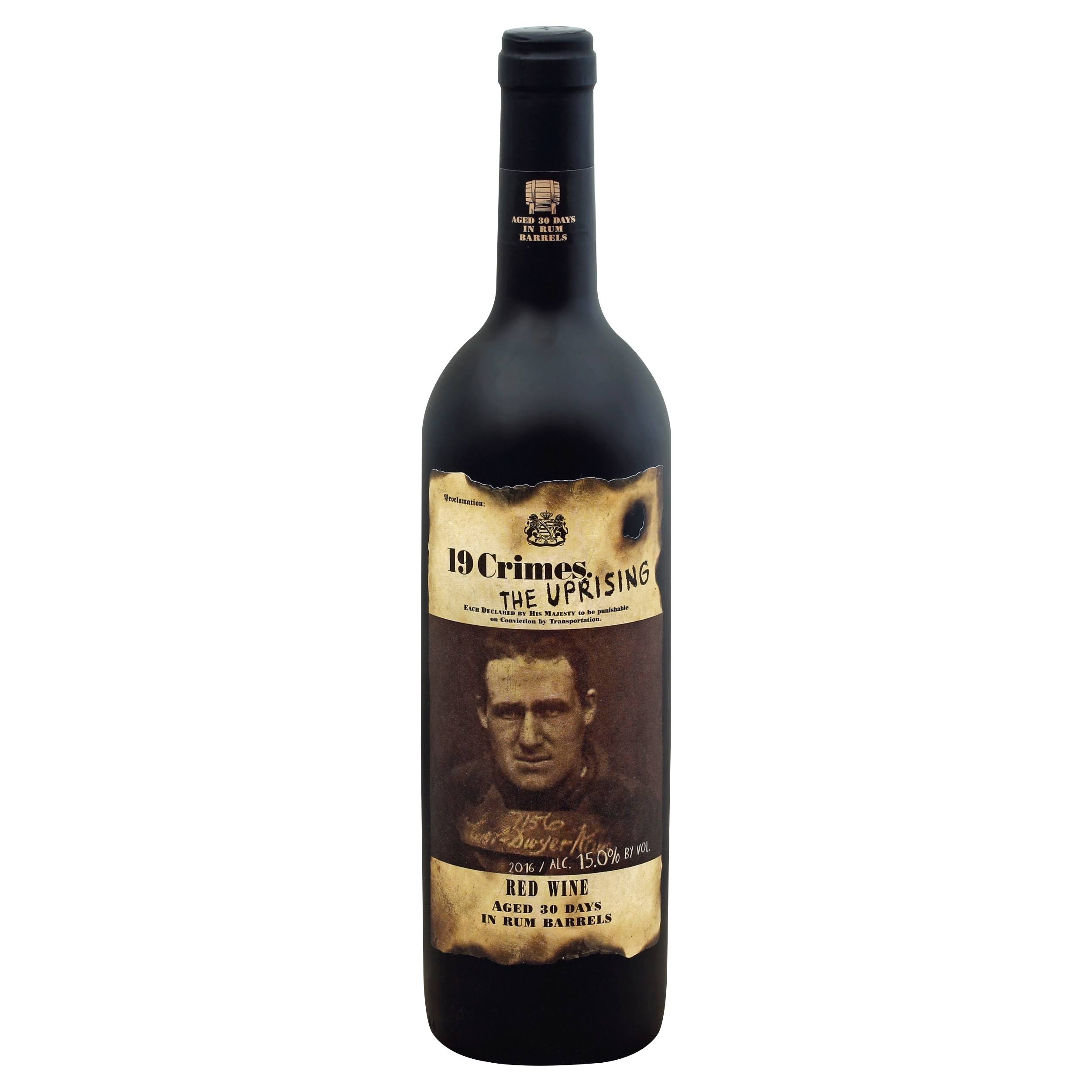 19 Crimes Red Wine, The Uprising, 2016 - 750 ml