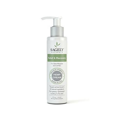 Sagely Naturals CBD Cream, Relief & Recovery - 4 fl oz