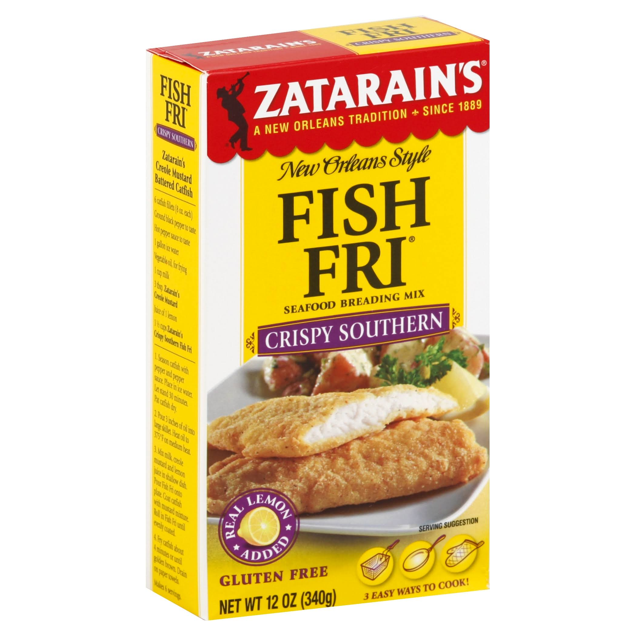 Zatarain's New Orleans Style Fish Fri Seafood Breading Mix - Crispy Southern, 12oz