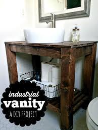 Ebay Bathroom Vanity With Sink by Diy Industrial Farmhouse Bathroom Vanity Industrial Farmhouse